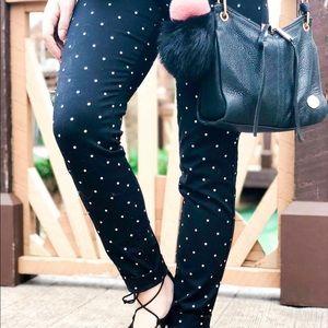 Black and white trouser old navy polka dot pants